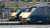 GNER line-up, King's Cross, 24 November 2007 1 - 1352    91102 Durham Cathedral, 911xx & 91131 County of Northumberland,
