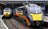 43295 & 180105, King's Cross, Wed 2 February 2011 - 1013    Grand Central's 0651 from Bradford Interchange arrives slightly late (due 1005).  East Coast's HST was awaiting departure with the 1030 'Northern Lights' to Aberdeen.