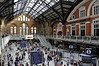 Liverpool Street station, Sun 1 September 2013 3.  Here are two views of the concourse.