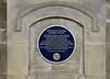 Newcastle station, Wed 9 October 2013.  One of a number of plaques commemorating this very handsome station.