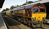 66127, Wymondham, Wed 28 August 2013 - 1714.  Loaded sand hoppers from Middleton Towers.