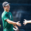 Cal Poly men's tennis hosted Fresno State.  Photo by Owen Main 2/7/20