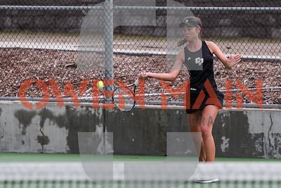 Cal Poly Women's Tennis hosted Santa Clara. Photo by Owen Main 2/16/19