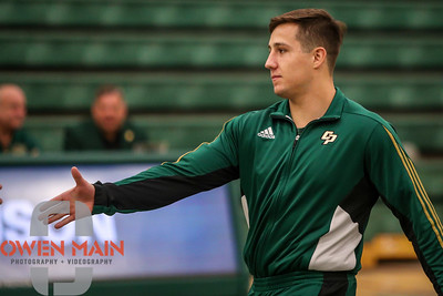 Cal Poly Wrestling hosted Cal Baptist on 2018 Alumni Weekend. Photo by Owen Main. 11/10/18