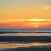 Mayflower Beach Sunset Art