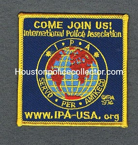 INTERNATIONAL POLICE ASSOCIATION PATCHES