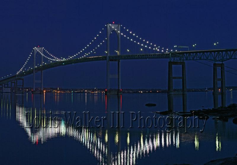 Newport bridge at night1