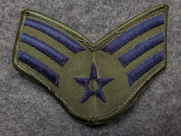 E4 Senior Airman Blue