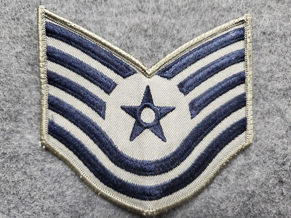 E6 Technical Sergeant Blue on Grey
