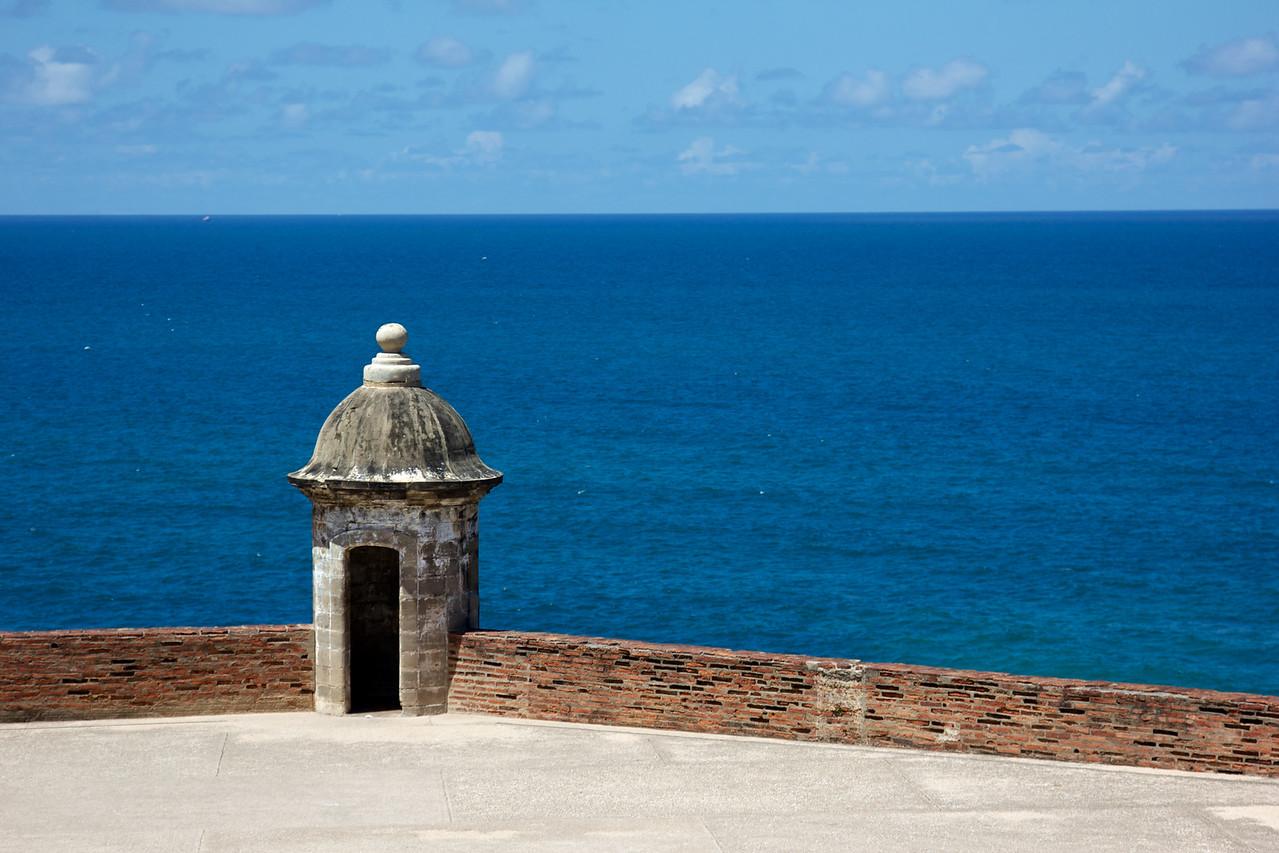 Guerite Overlooking the Atlantic