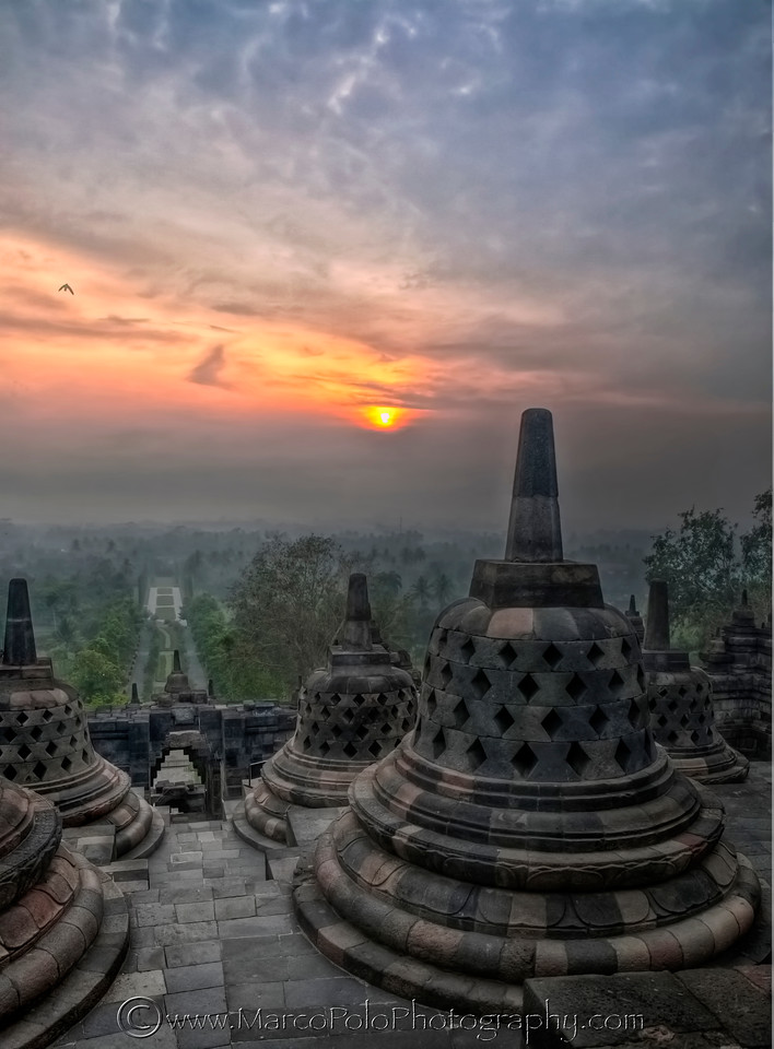 "Borobudur. Sunrise #2. 15""x20"""