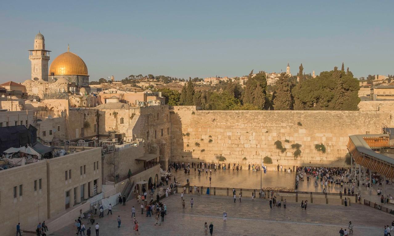 Western Wall at Sunset. Jerusalem.