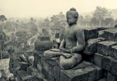 """Borobudur #1. 20""""x14"""""""