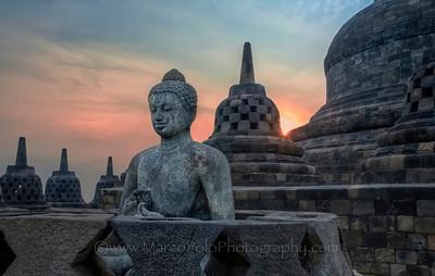 "Borobudur. Sunrise #1. 22""x14"""