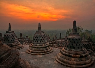 "Borobudur. Sunset #2. 20""x14"""