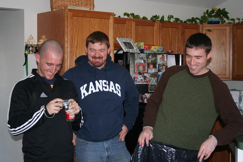 Sam, Brandon and BJ enjoying an inside joke of some sort