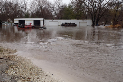 Flood in Warrenville, Illinois - April 18, 2013