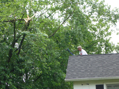 Microburst Damage in Warrenville, Illinois - June 25, 2013