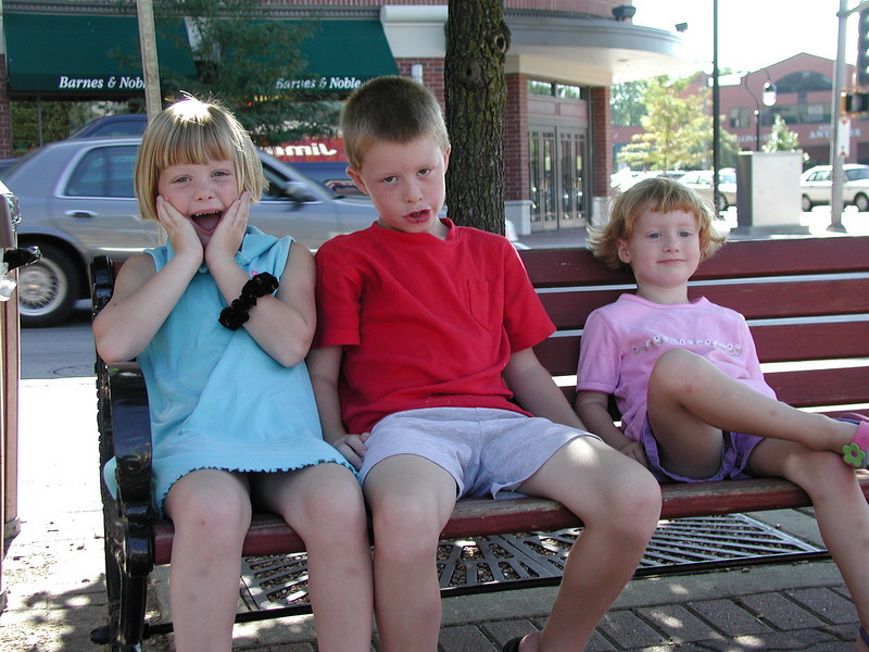 Megan, Alex, and Carly, downtown Naperville