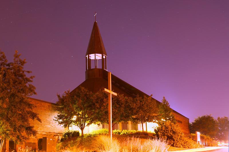 Good Shepherd Church at night