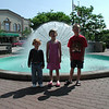 Carly, Megan, Alex at dandelion fountain