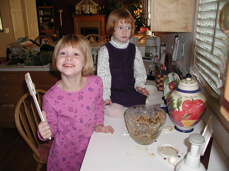 Megan and Carly, baking