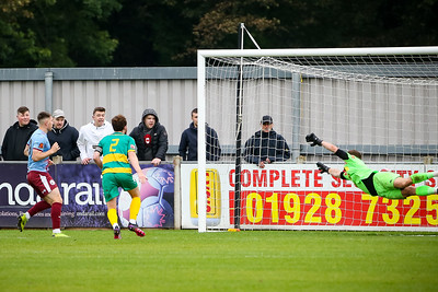 Cedwyn Scott slots home just after Half Time to make it 3-2 for Gateshead
