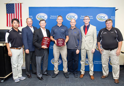 Florida Sports Foundation awards presented to IRSC's swimming and diving coaches on behalf of the men's and women's swimming and diving teams.  photographed on Wednesday, August 8, 2018, on the main campus in Fort Pierce.
