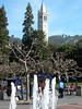 Sather Tower from Sproul Plaza