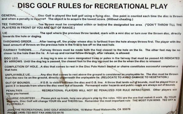 Hellyer Park Disc Golf 12/19/2004