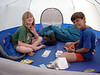 Evening card game in the tent