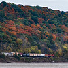 Freight Train and Fall Colors on the Missouri River   LLD_0808