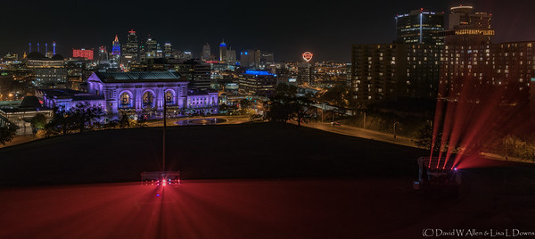 Downtown Kansas City viewed at night from The Liberty Memorial  _D856043-2