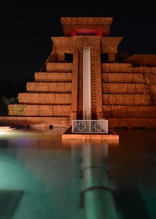 Mayan Temple at Night