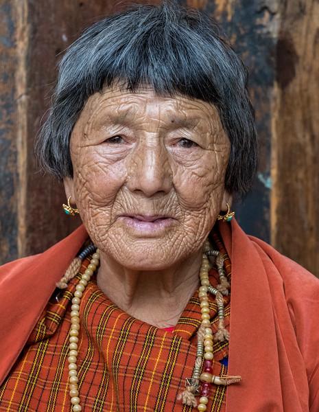 Kurjey Tshechu, Bumthang, Bhutan. A local tshechu attendee.