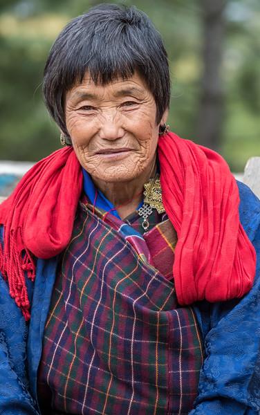 Lhodrak Kharchu Monastery, Bhutan. A prayer service  participant, after the service.