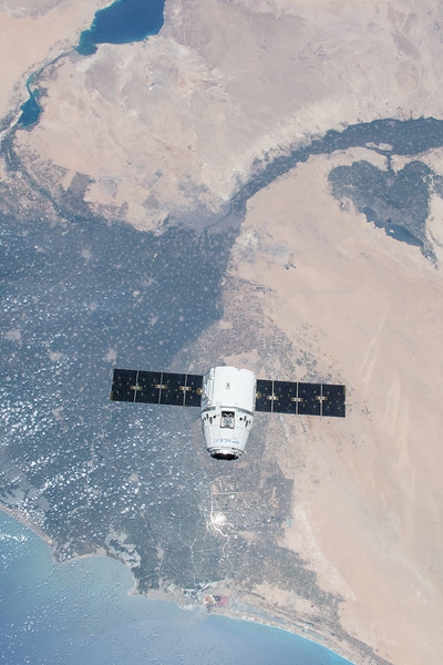 SpaceX over Nile River Delta