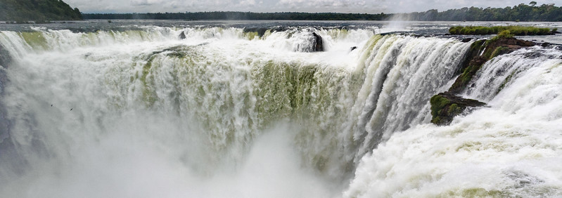 Devil's Throat, Iguazu Falls, Argentina. Roughly half of the river flow occurs through this part of this massive waterfall complex on the border between Argentina and Brazil.