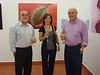 Jaime Rodríguez (Vocal de ciencia y relaciones con la Universidad), Ana Retamero y Diego Rodríguez (Presidente del Ateneo).