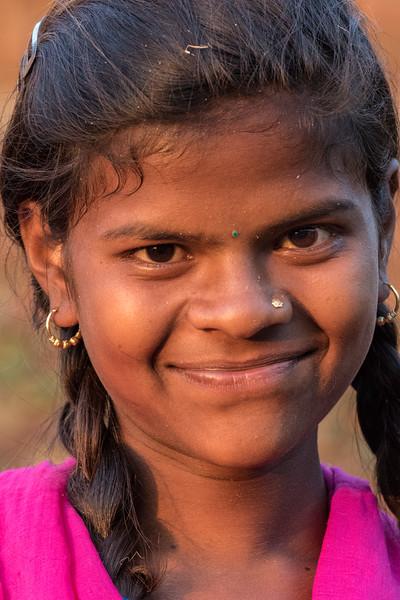 Lata, Bhoramdeo, Chhattisgarh, India. A village girl.