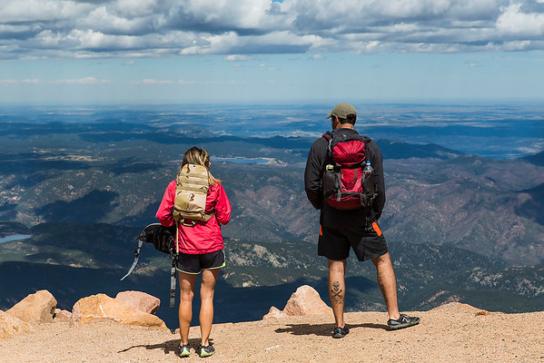 Colorado -  The summit of Pikes Peak.  14, 150 ft.