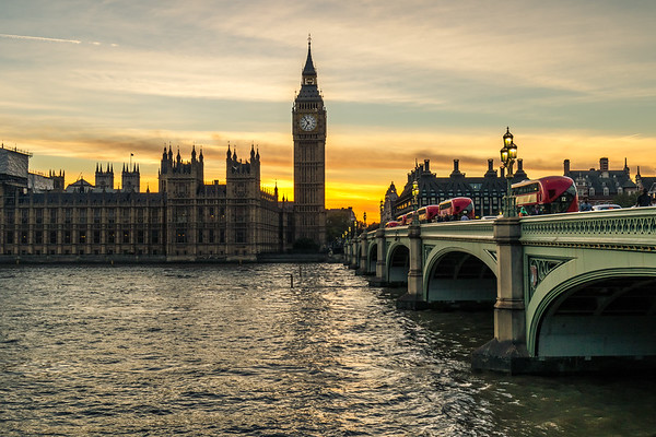 London by Night - Westminster Bridge