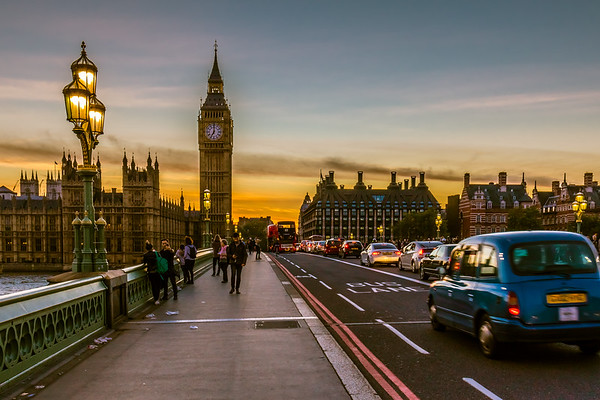 London by Night - On Westminster Bridge