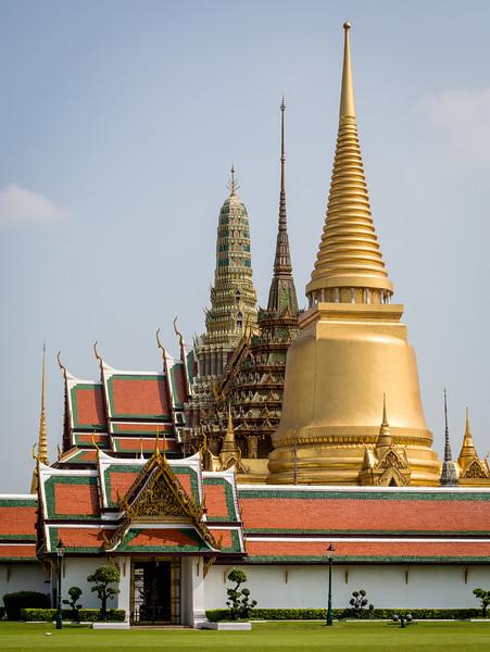Bangkok, Thailand. Temple of the Emerald Buddha.