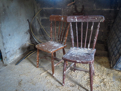 Chairs in Patrick's barn
