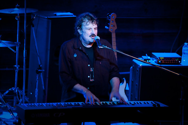 Burton at his Yamaha electric keyboard