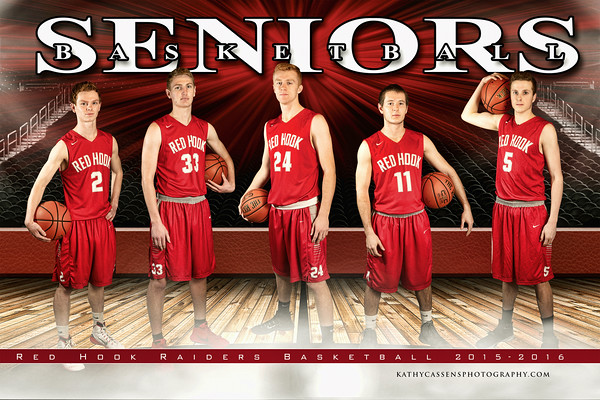 Red Hook  boys Basketball Team seniors