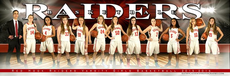 Red Hook Girls Basketball Team 5x15