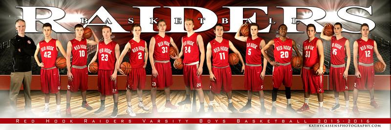 Red Hook  boys Basketball Team 5x15