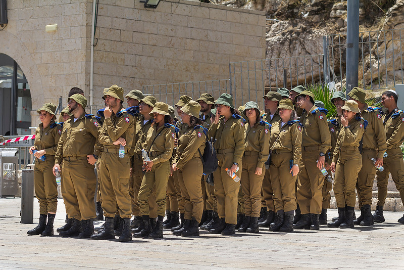 New Israeli army recruits